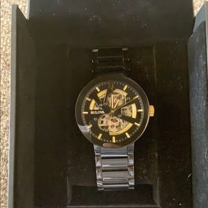 Bulova watch with 24k Gold accents,